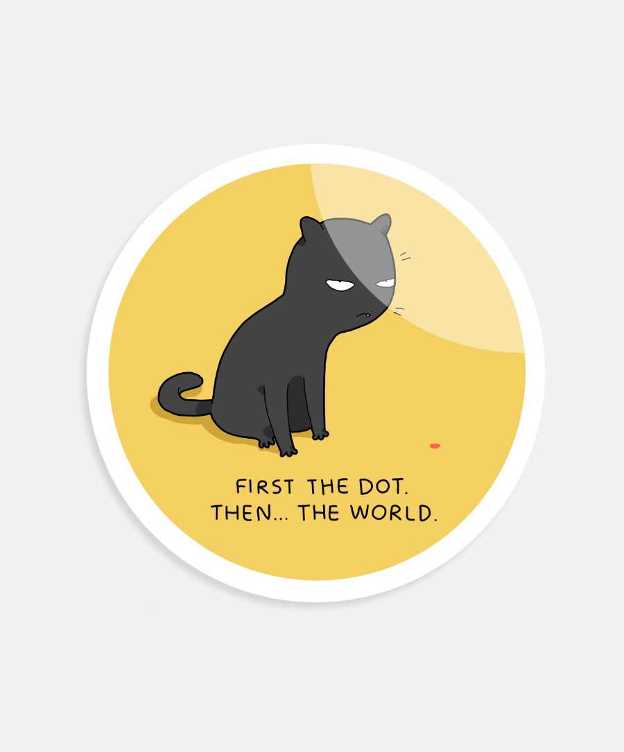 First The Dot Sticker