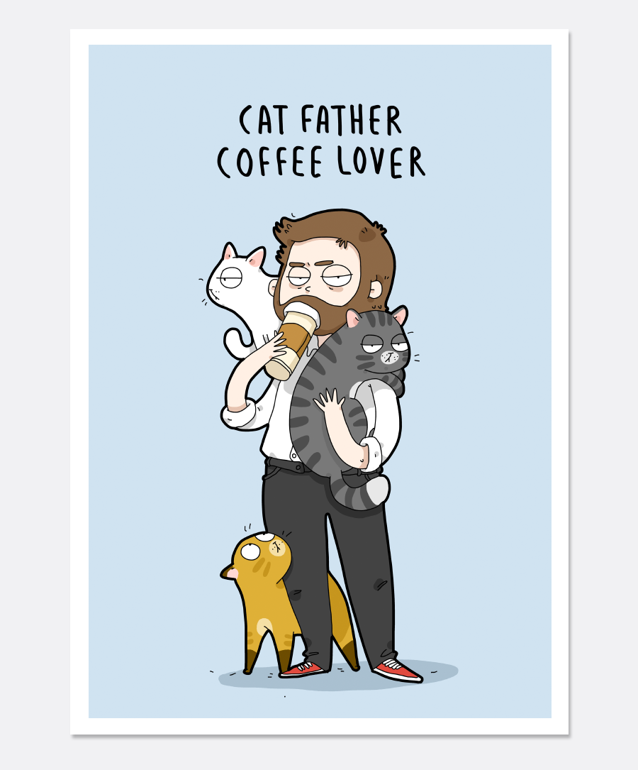 Cat Father Print