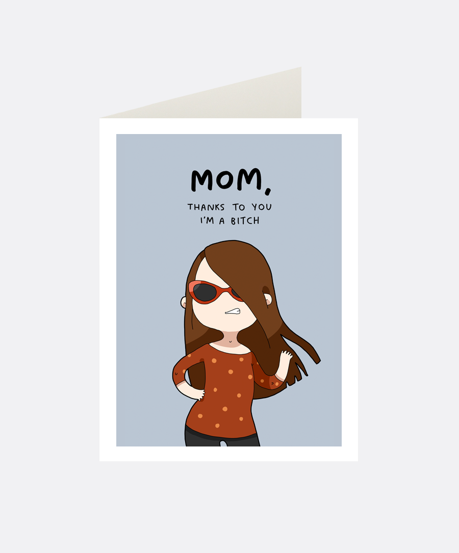 Thanks, Mom Greeting Card
