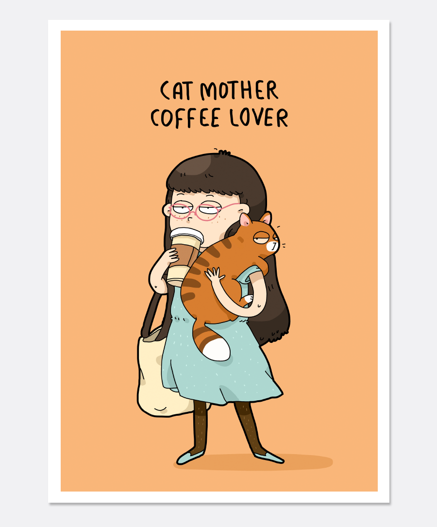 Cat Mother Print