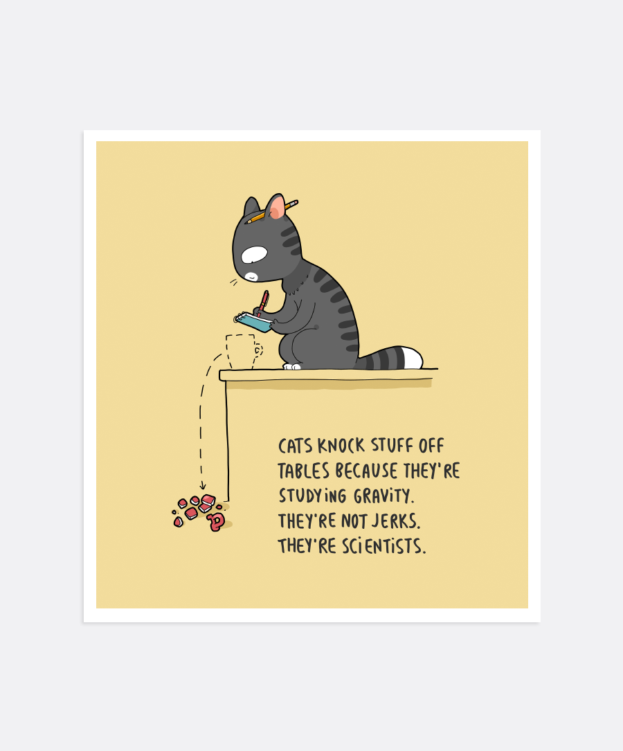Cat Scientists Mini-Print