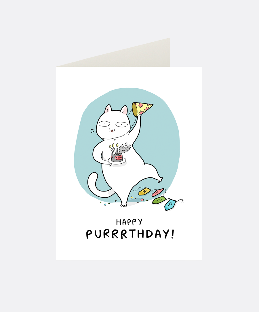 Purrrthday Greeting Card