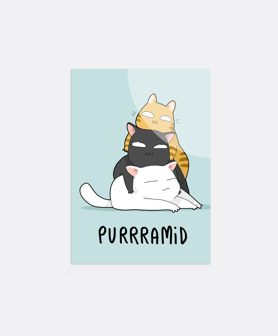 Purrramid Sticker