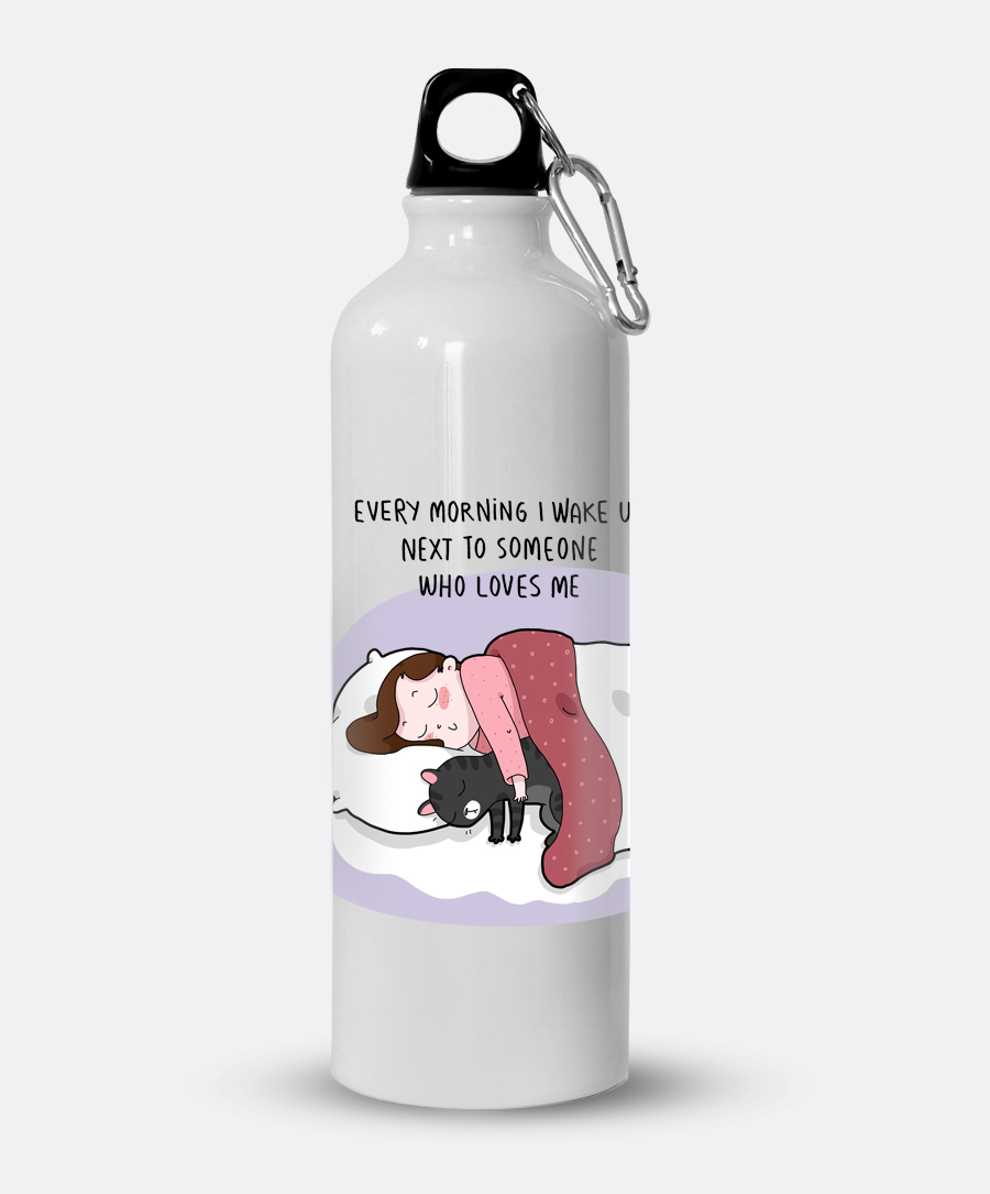 Someone Who Loves Me Water Bottle