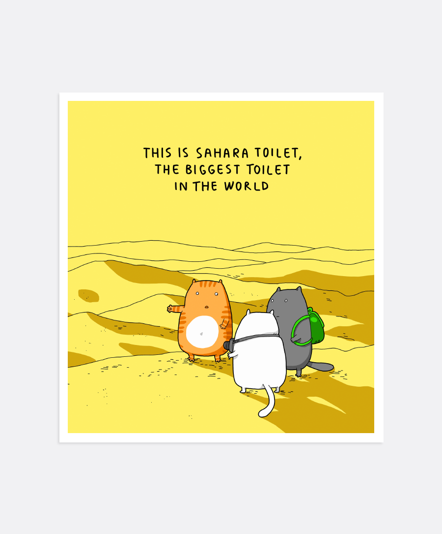 Sahara Toilet Mini-Print