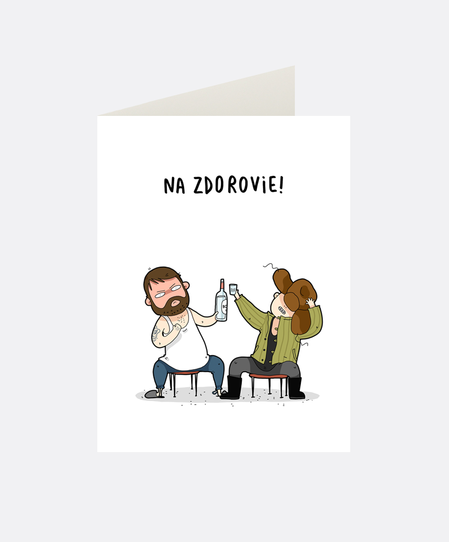 Na Zdorovie Greeting Card