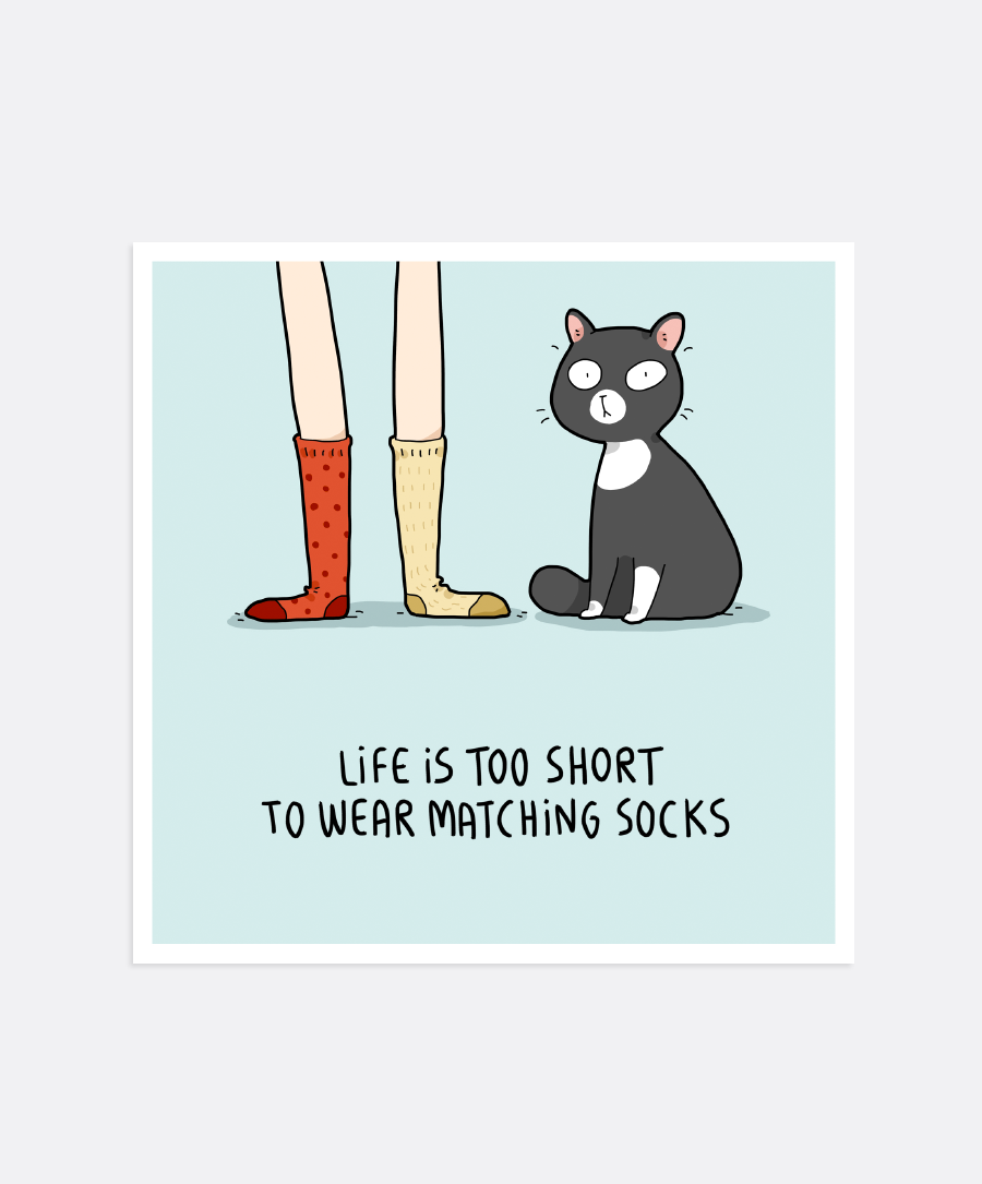 Matching Socks Mini-Print