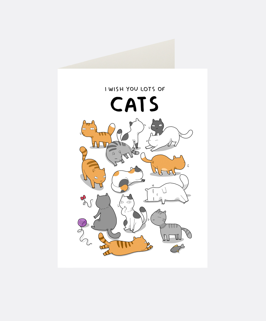 I Wish You Cats Greeting Card