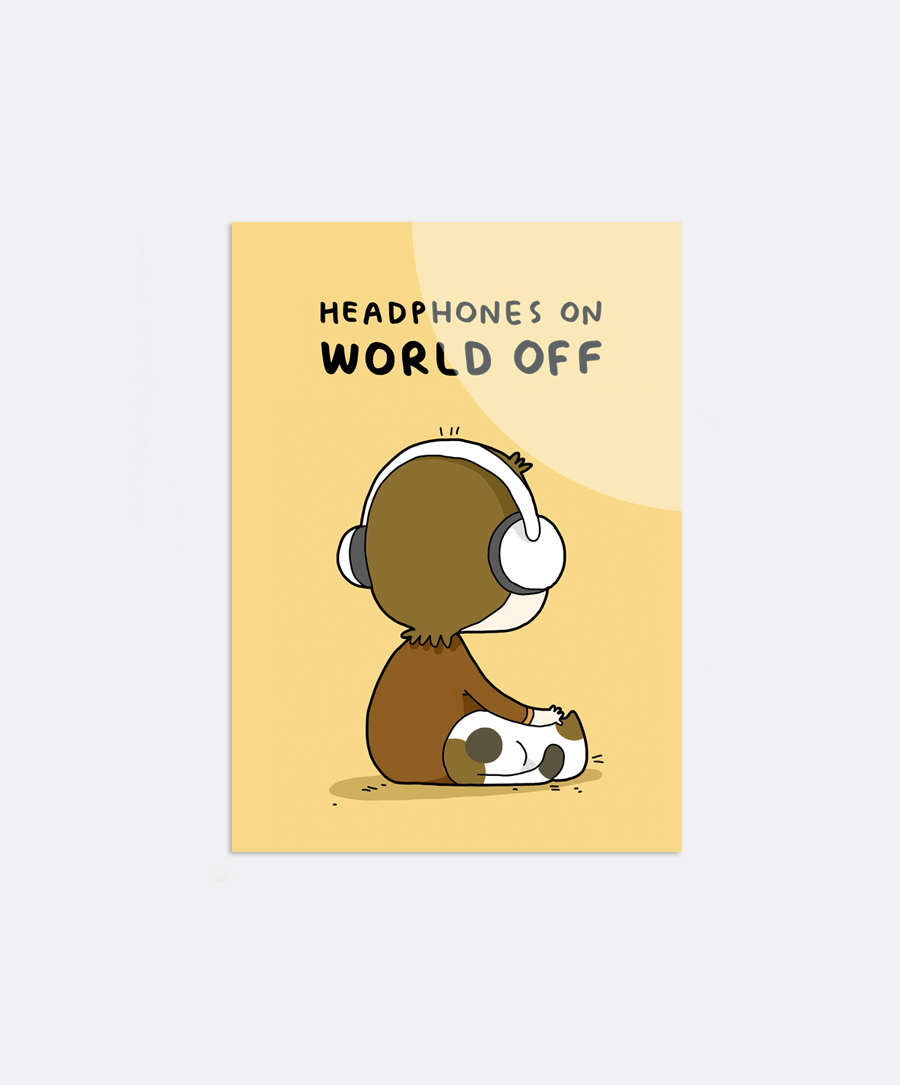 Headphones On Sticker