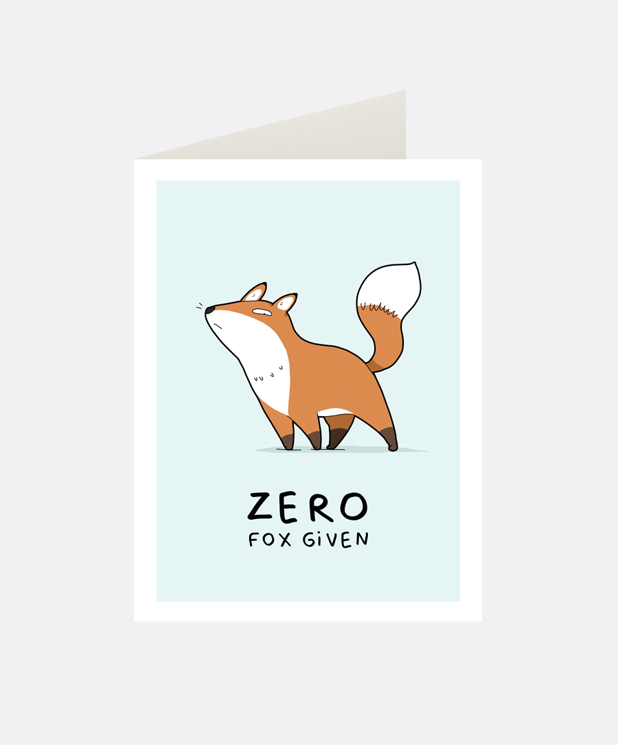 Zero Fox Greeting Card