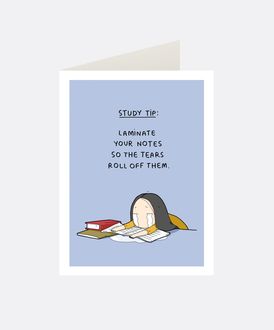 Study Tip Greeting Card