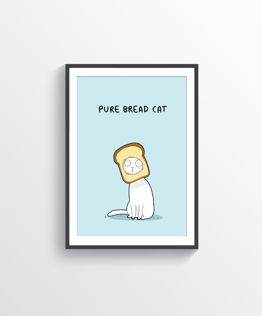 Pure Bread Cat Print