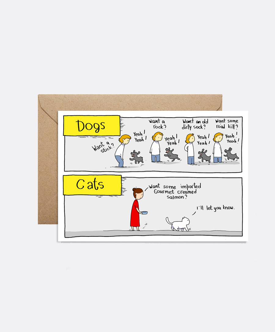 Dogs vs Cats Card