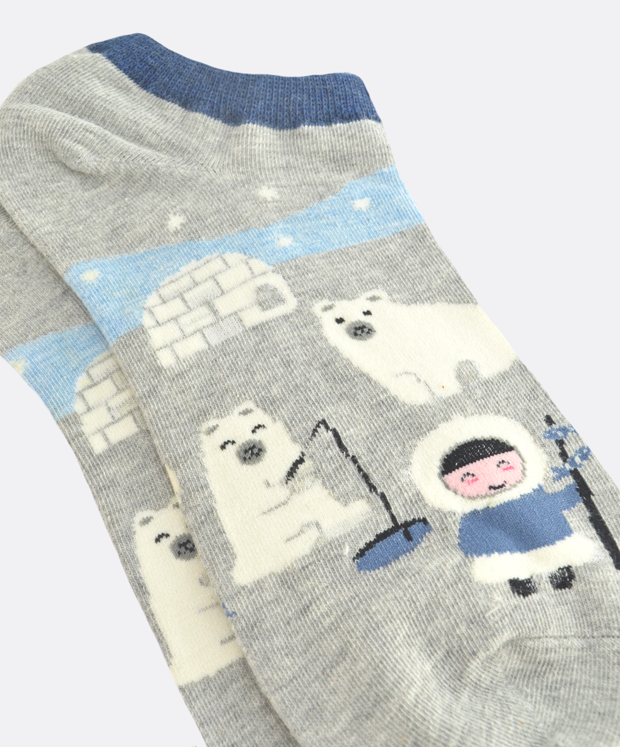 North Pole Grey Socks