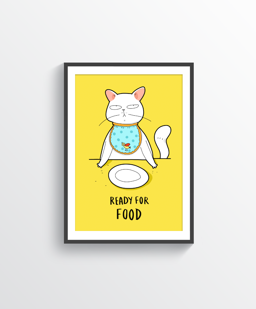 Ready For Food Print