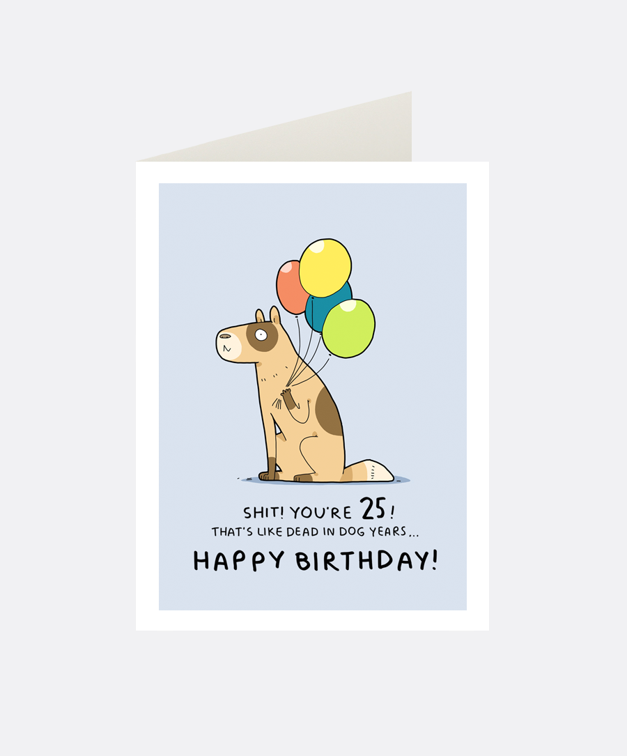 25th birthday greeting card lingvistov online store 25th birthday greeting card bookmarktalkfo Gallery