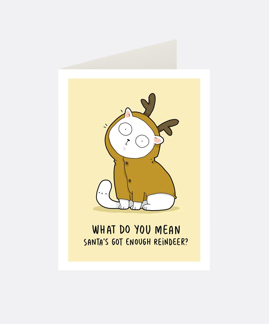 Reindeer Greeting Card Lingvistov Online Store