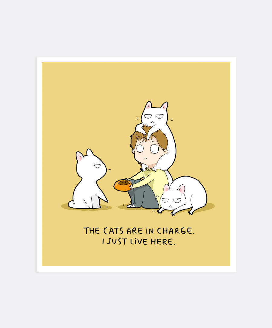 Cats In Charge Mini-Print