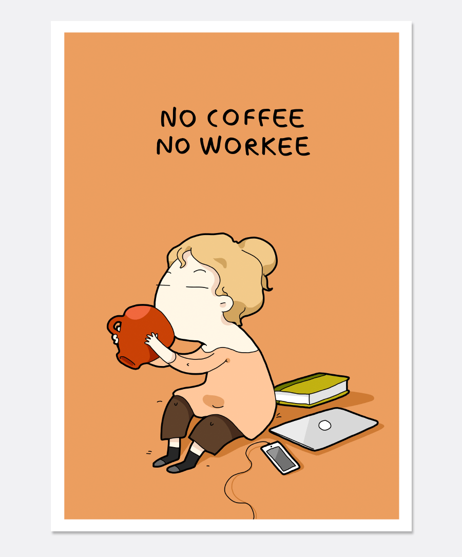 No Coffee Print