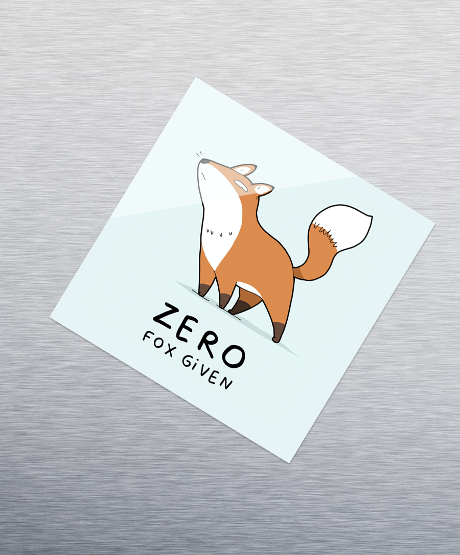 Zero Fox Sticker