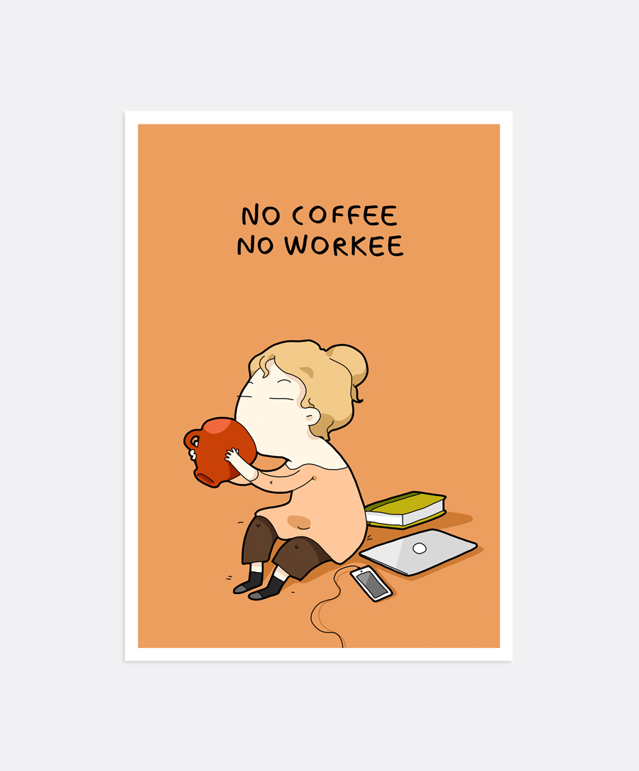 No Coffee Mini-Print