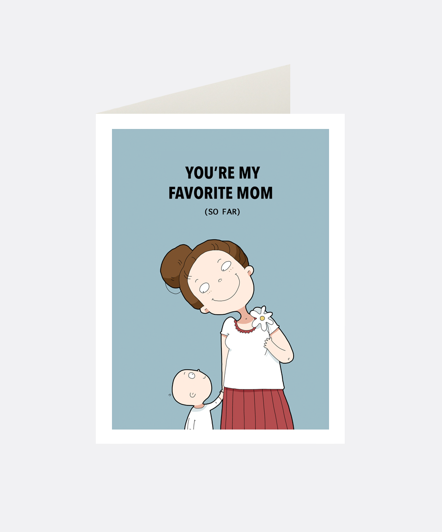 Favorite Mom Greeting Card