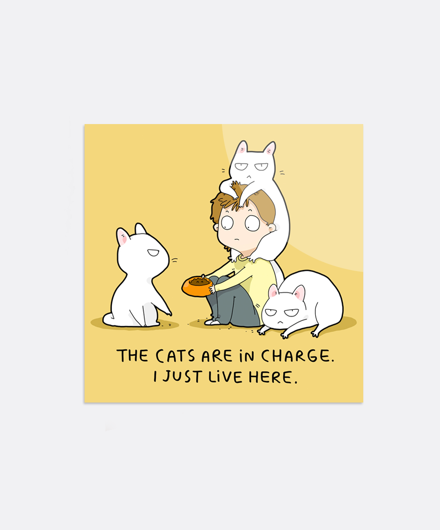 Cats In Charge Sticker