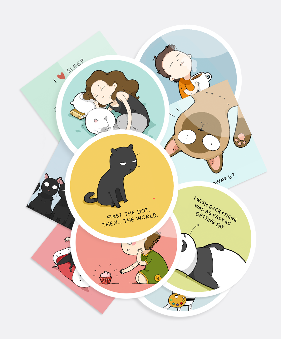 A Set Of 10 Assorted Stickers