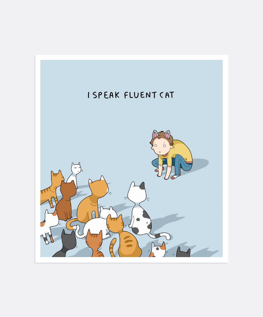 Fluent Cat Mini-Print