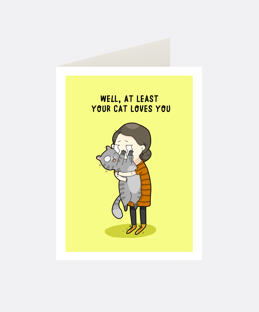 Cat Love Greeting Card
