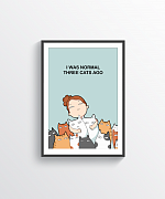 Three Cats Ago Print