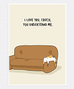 I Love You Couch Print