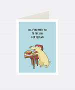 Lab Greeting Card