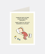 Exercising Greeting Card