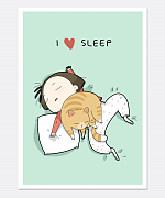 I Love Sleep Print