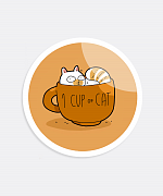Cup Of Cat Sticker