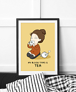 Blood Type Is Tea Print