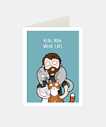 Real Men Wear Cats Greeting Card