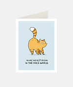 Hole World Greeting Card