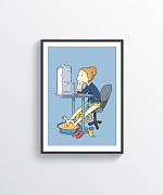 Office Vacations Print