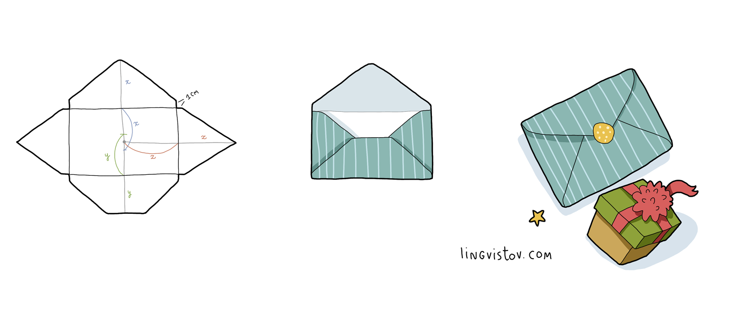 How to Make Square or Any Size Envelope - Lingvistov | Lingvistov ...