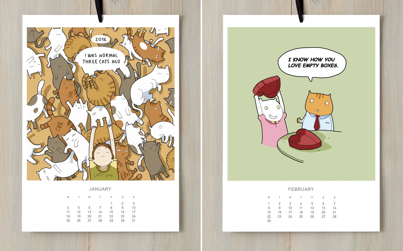 cats calendar 2016 lingvistov lingvistov online store