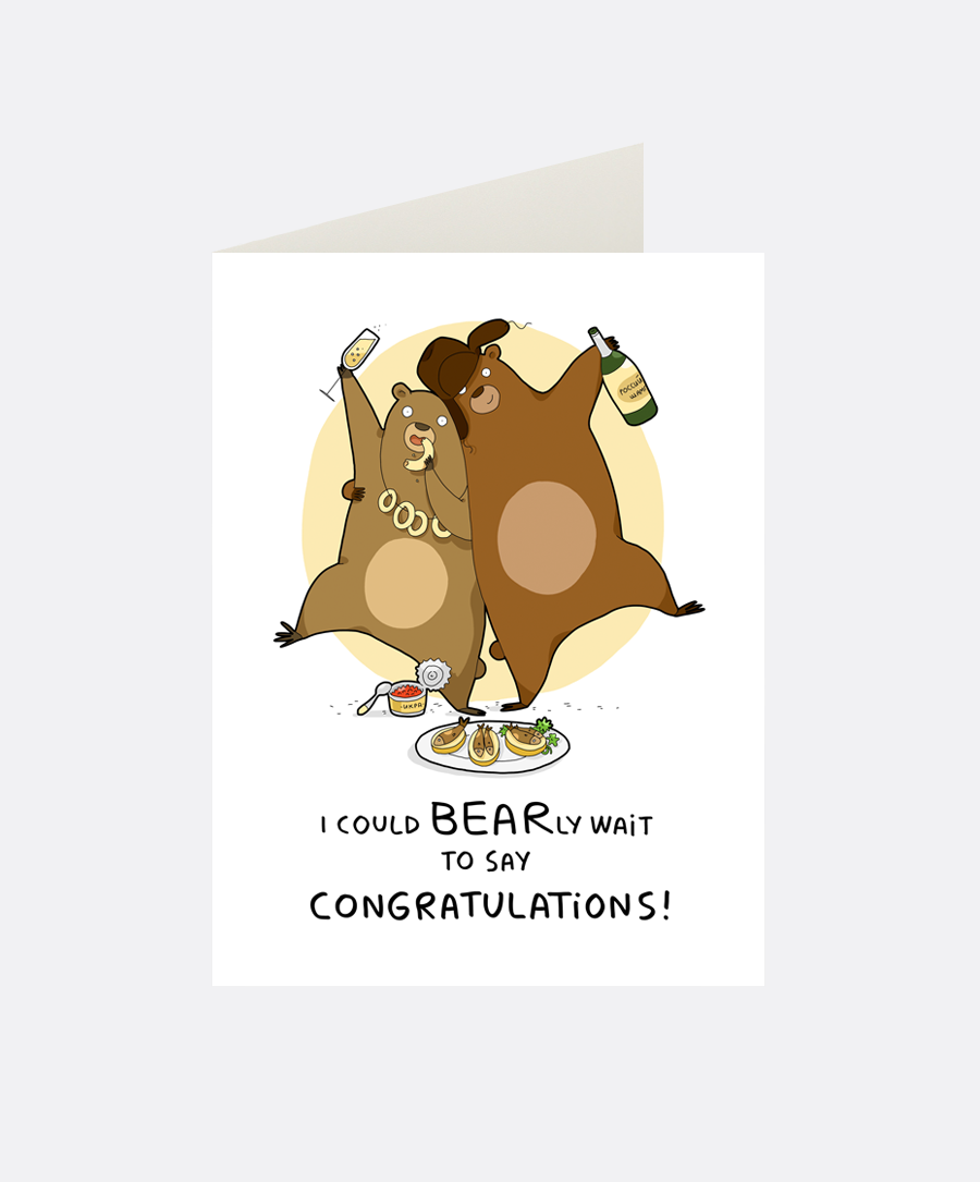 Bearly Greeting Card