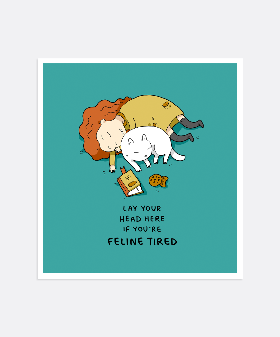 Feline Tired Mini-Print