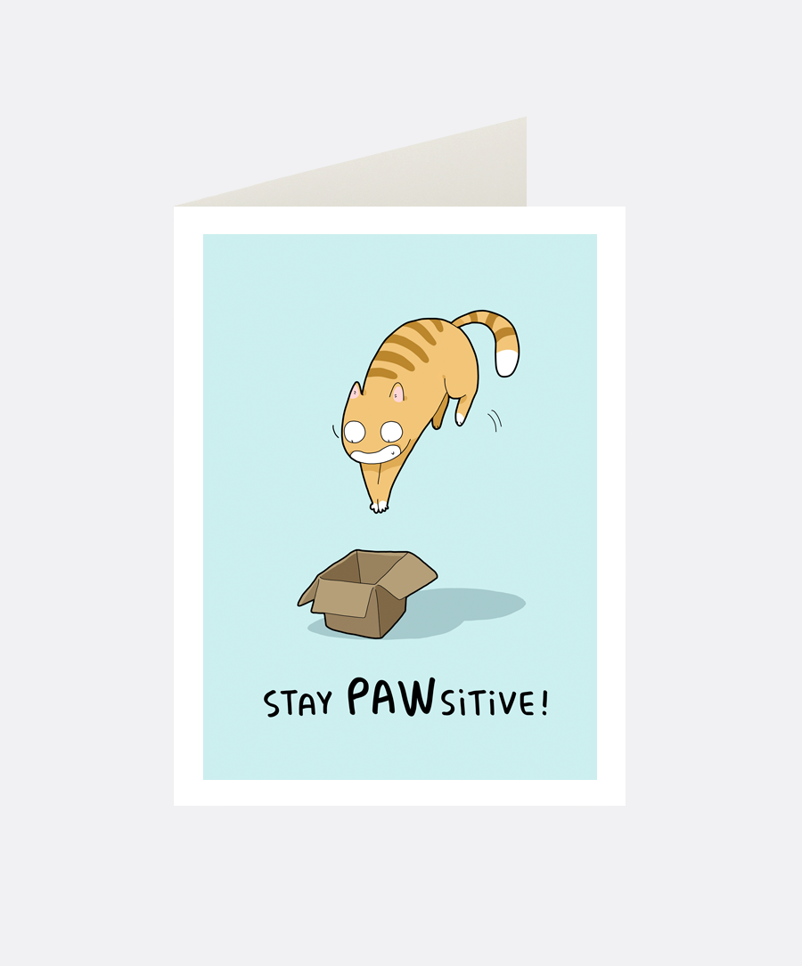 Pawsitive Greeting Card
